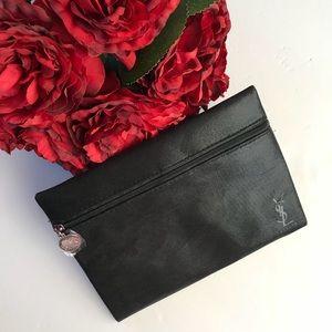 Yves Saint Laurent Black Cosmetics Make Up Bag